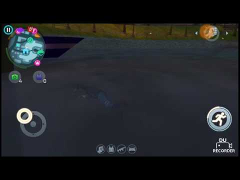 A secret place under water to escape police in gangstar vegas