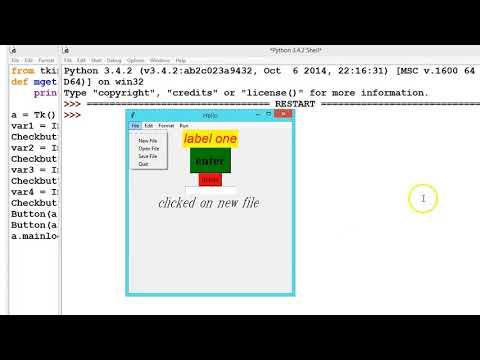 Python GUI: How to Add Check Button | Check box to Menu Bar List Tutorial# 22