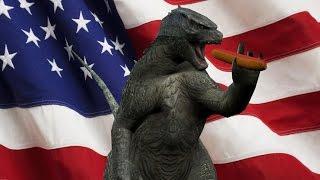 Godzilla Chases Hotdog