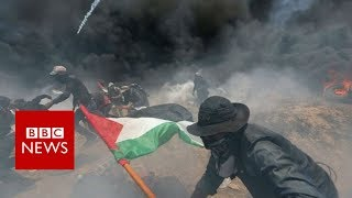 At least 25 Palestinians killed in Gaza-Israel border clashes - BBC News