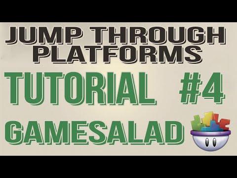Gamesalad Tutorial - Jump Through Platforms