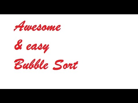 Bubble sort in 5 min Simple java programing