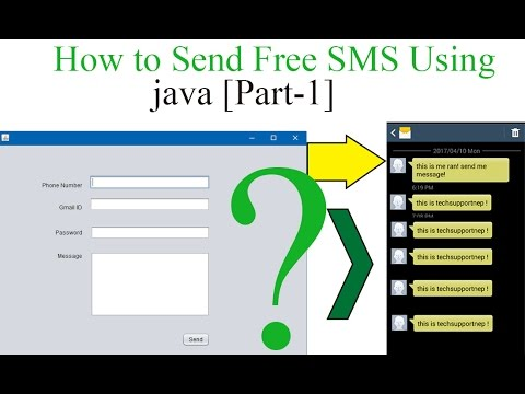How to Send Free SMS using java? [Part-1] [With Source Code]