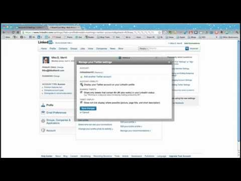 How to Add Your Twitter Account to LinkedIn
