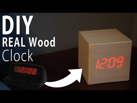 DIY Wood Clock (REAL WOOD)