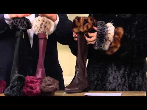 Dennis Basso Set of 3 Faux Fur Boot Toppers with Jacque Gonzales