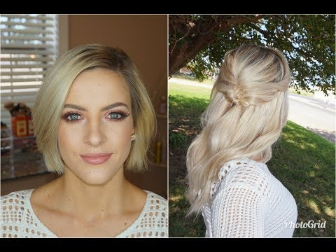 Half Updo for Short Hair | With Extensions