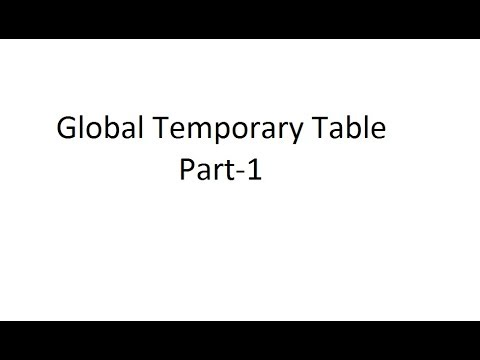 Global Temporary Table || Oracle || SQL || in Telugu - Part-1