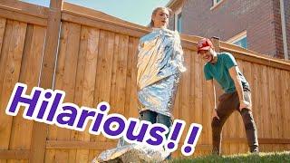 5 Foot Japanese Aluminum Foil Girl CHALLENGE!