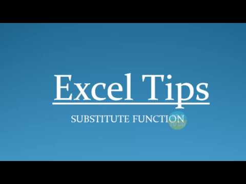 How To Use Substitute Function In Excel