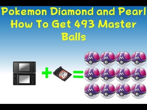 Pokemon Diamond & Pearl - How to get 493 master balls With Cheats