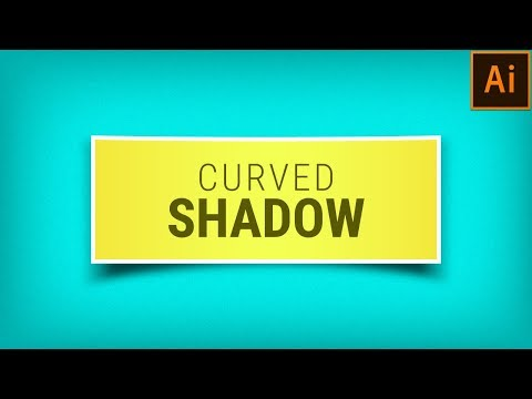 How to create curved shadow in Illustrator | Adobe Illustrator Tutorial