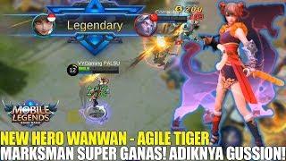 NEW HERO WANWAN - MARKSMAN DENGAN SKILL SUPER DEWA! ULTIMATENYA NGERI BANGET! MOBILE LEGENDS