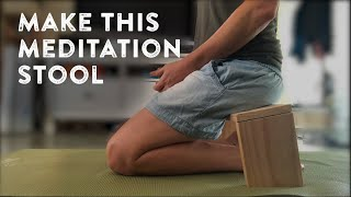 How to make a meditation stool, quickly and easily