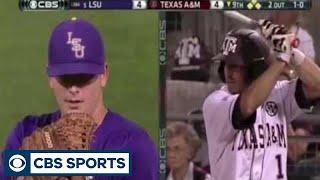 LSU outfielder Jared Foster's amazing catch | CBS Sports