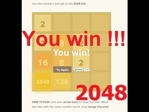 2048 Game SOLUTION Very Simple + Proof