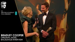 Bradley Cooper Reacts to Winning Original Music for A Star Is Born | EE BAFTA Film Awards 2019
