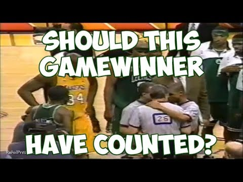 Kobe Bryant's Gamewinner that Didn't Count || Controversial Lakers vs. Celtics Game!