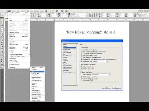 InDesign Special Characters