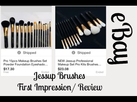 Ebay- Jessup Brushes First Impressions/ Review