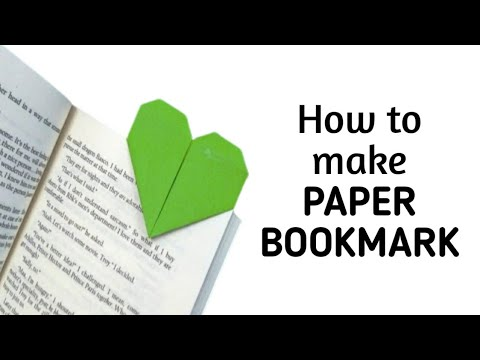How to make a simple & easy heart shaped paper bookmark | DIY Paper Craft Ideas, Videos & Tutorials.