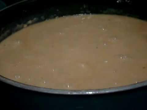 88 Making homemade gravy for Salisbury steak patties and adding patties to soak in gravy Pt2