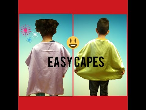 HOW TO MAKE A CAPE FOR KIDS IN 15 MINUTES TUTORIAL