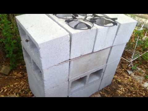 How i built my rocket stove, grill. oven all in one