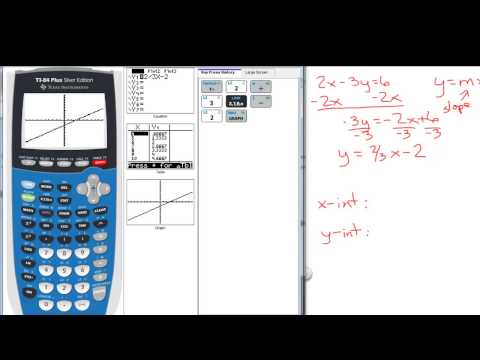 Graphing Linear Equations - Finding Intercepts Using the TI-84
