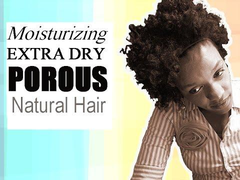 Get High Porosity Curly Natural Hair to Stay Moisturized Longer   L.O.C Method On Dry Black Hair