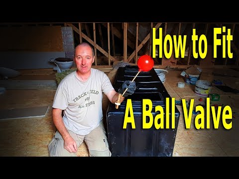 How to fit a fill valve in a new water tank