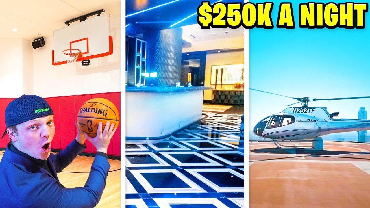 OVERNIGHT Challenge In $250,000 Per Night HOTEL!