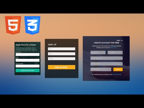 Learn to create an HTML and CSS3 landing page design