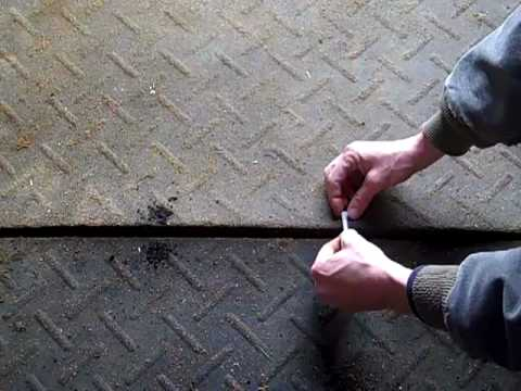 How to fix rubber horse stall mats that won't stay down!