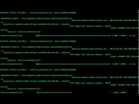 continuous internet speedtest through terminal