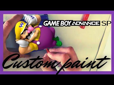 custom paint game boy advance SP - DIY ( wario edition )