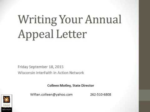 Recording writing your appeal letter