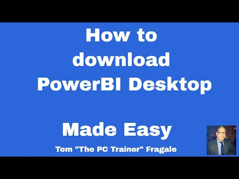 How to download PowerBI desktop