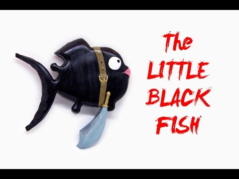 How to Make POLYMER CLAY The LITTLE BLACK FISH Figure