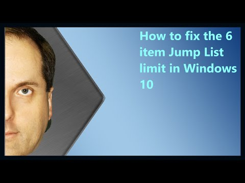 How to fix the 6 item Jump List limit in Windows 10