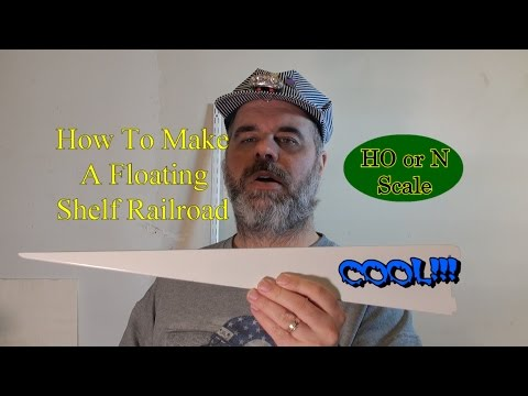 How To Make A Floating Shelf Model Railroad - Part 1