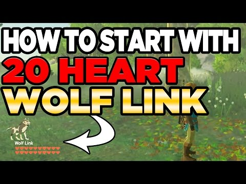 How To Get 20 Heart Wolf Link in Breath of the Wild  | Austin John Plays