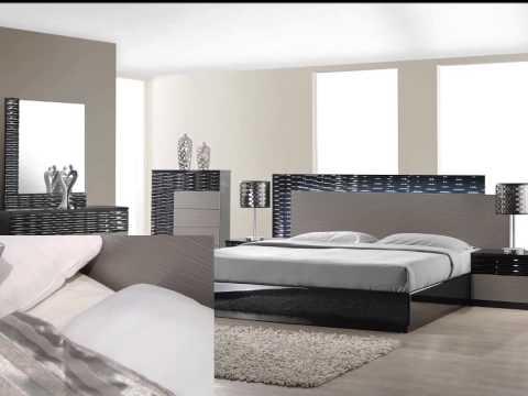 Roma Bedroom Set in Black Glossy Finish