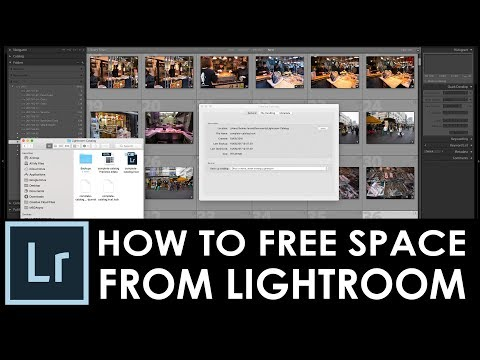 How to free up disk space used by Adobe Lightroom / Clear previews and Backups / episode #33