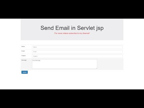 How to send email in servlet java