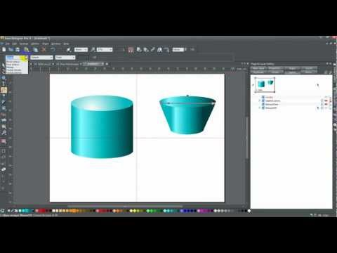Xara How to Draw a Cylinder