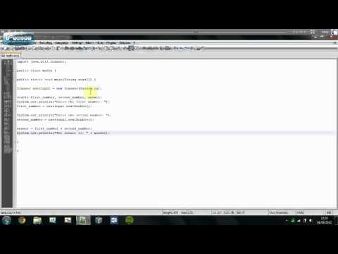 Understanding Java   Simple Maths Calculator + Double Variables   Tutorial #6