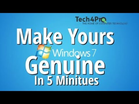 How to Genuine Your Windows 7 In 5 Miniutes!!! [FREE-2017]