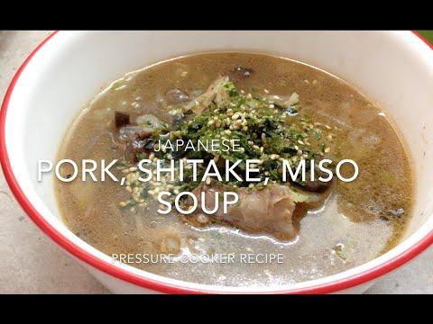 Japanese Pork, Miso & Shitake Mushroom soup cheekyricho Pressure Cooker video recipe