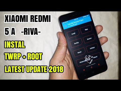 Xiaomi Redmi 5A (Riva) Install Twrp Sekaligus Root, Update Terbaru 2018 Tanpa Bootloop